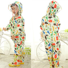 Hooded Boys Girl Raincoat For 1Y-7Y