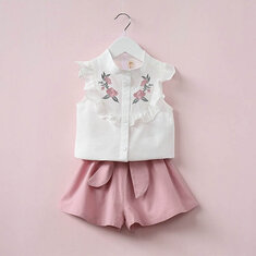 2Pcs Summer Girls Clothing Set For 2Y-9Y