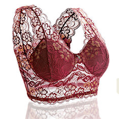 Sexy Lace Embroidered Seamless Wireless Vest Bras