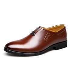 الرجال الكلاسيكية أشار تو المحمولة الانزلاق على الأعمال اللباس أحذية