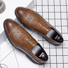 Hommes de grande taille Brogue Lace Up Casual Chaussures Business Oxford