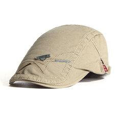 Men Classic Cotton Newsboy Berets Visor Cap Autumn Adjustable Snapback Hat England Style