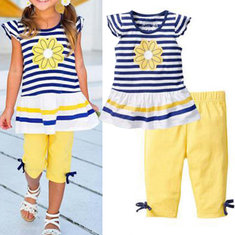 Girls Striped Short Set 3Y-11Y
