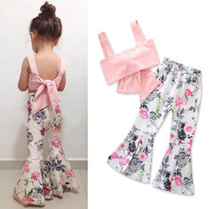 Floral Girls Summer Suit