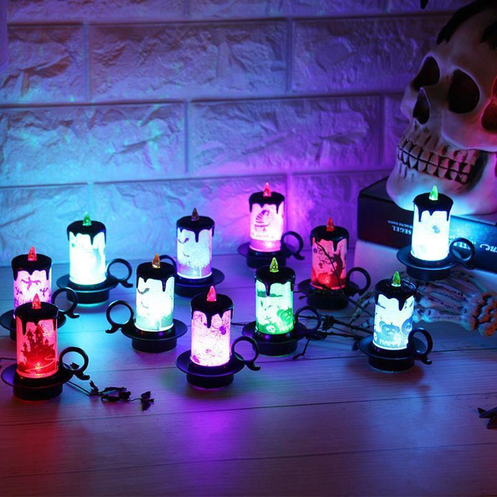 Battery Powered Halloween Decoration Led Candle Flameless Tea Night