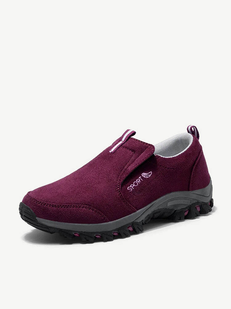 50fca6c85450 Comfortable Large Size Women Suede Walking Slip Resistant Casual  Confortable Flat Shoes - NewChic