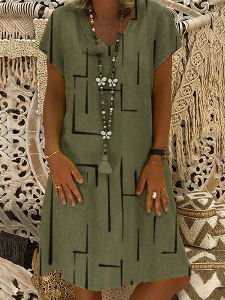 Stripe Loose Casual Dress