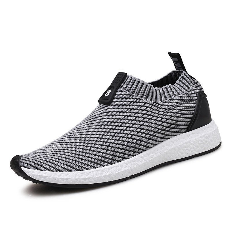Fashion Men Knitted Strech Fabric Breathable Non-slip Slip On Casual  Sneakers - NewChic a495ae4ad