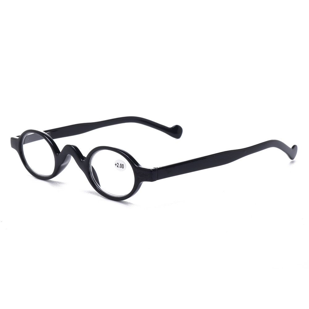 3f204bcffa6 Womens Mens Plastic Frame Vintage Small Round Frame Reading Glasses Simple  Durable Glasses Cool - NewChic