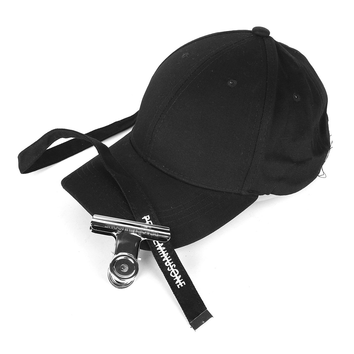 Men Women Long Belt Strap Solid Baseball Cap Snapback Sun Visor Hats+Clip  Cheap - NewChic 8b2e750b661