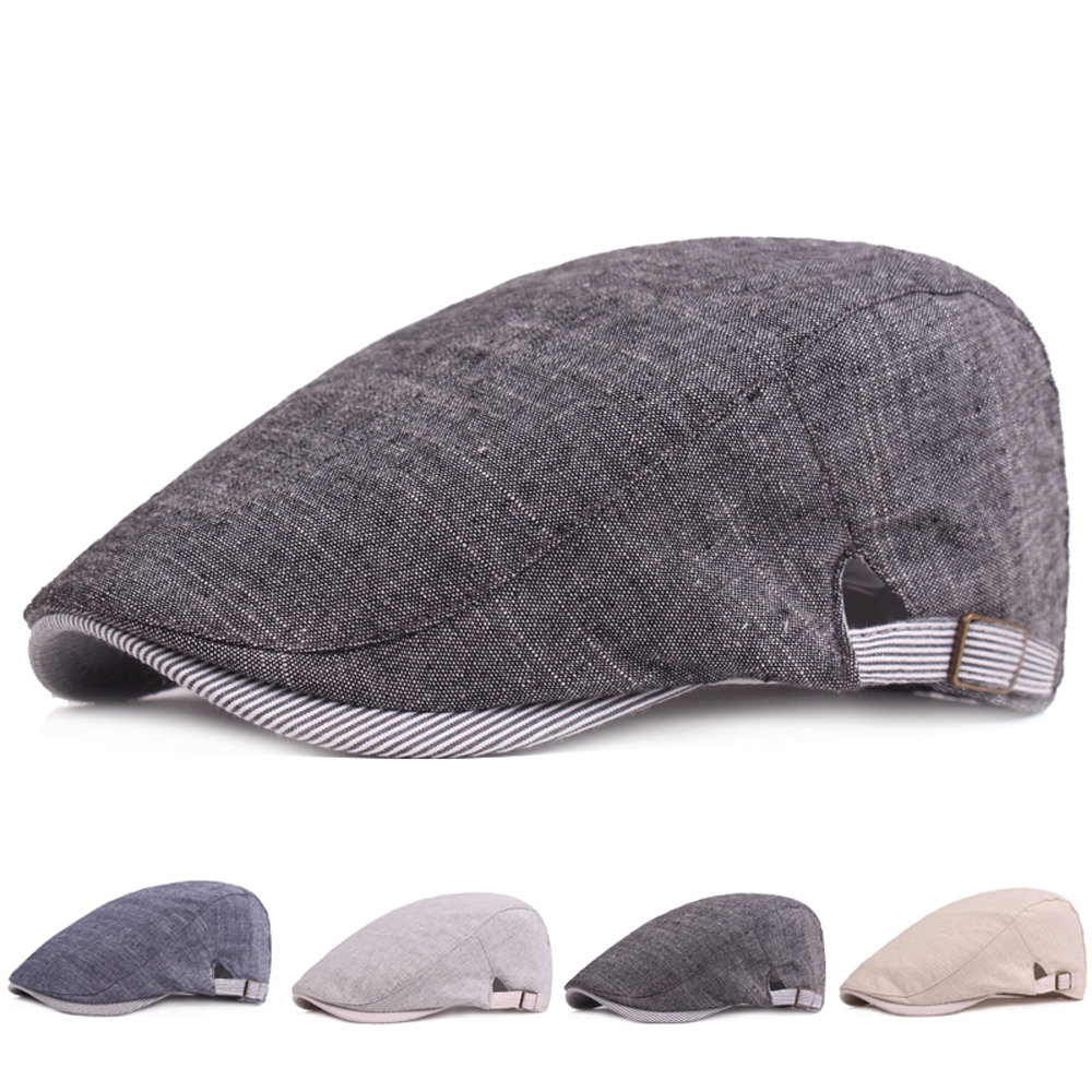 6d4f03ae731f3 Men s Vintage Cotton Beret Cap Casual Sunshade Newsboy Forward Adjustable  Hats Cheap - NewChic