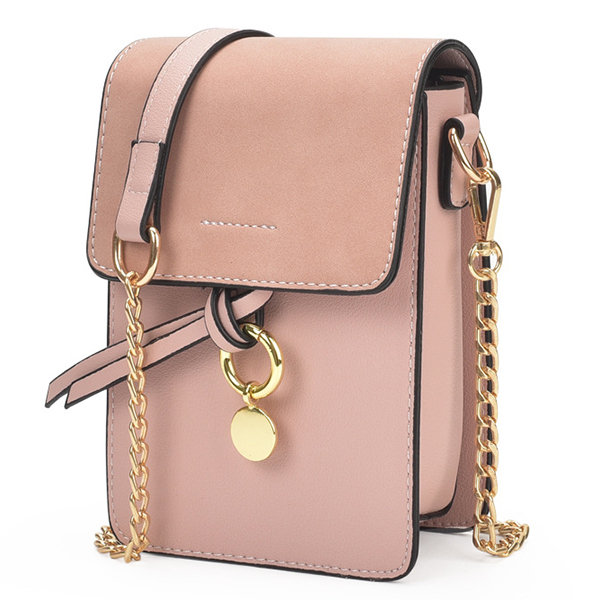 baefcb11ef5 Hot-sale designer Stylish Girl PU Leather Flap Phone Bag Chain ...