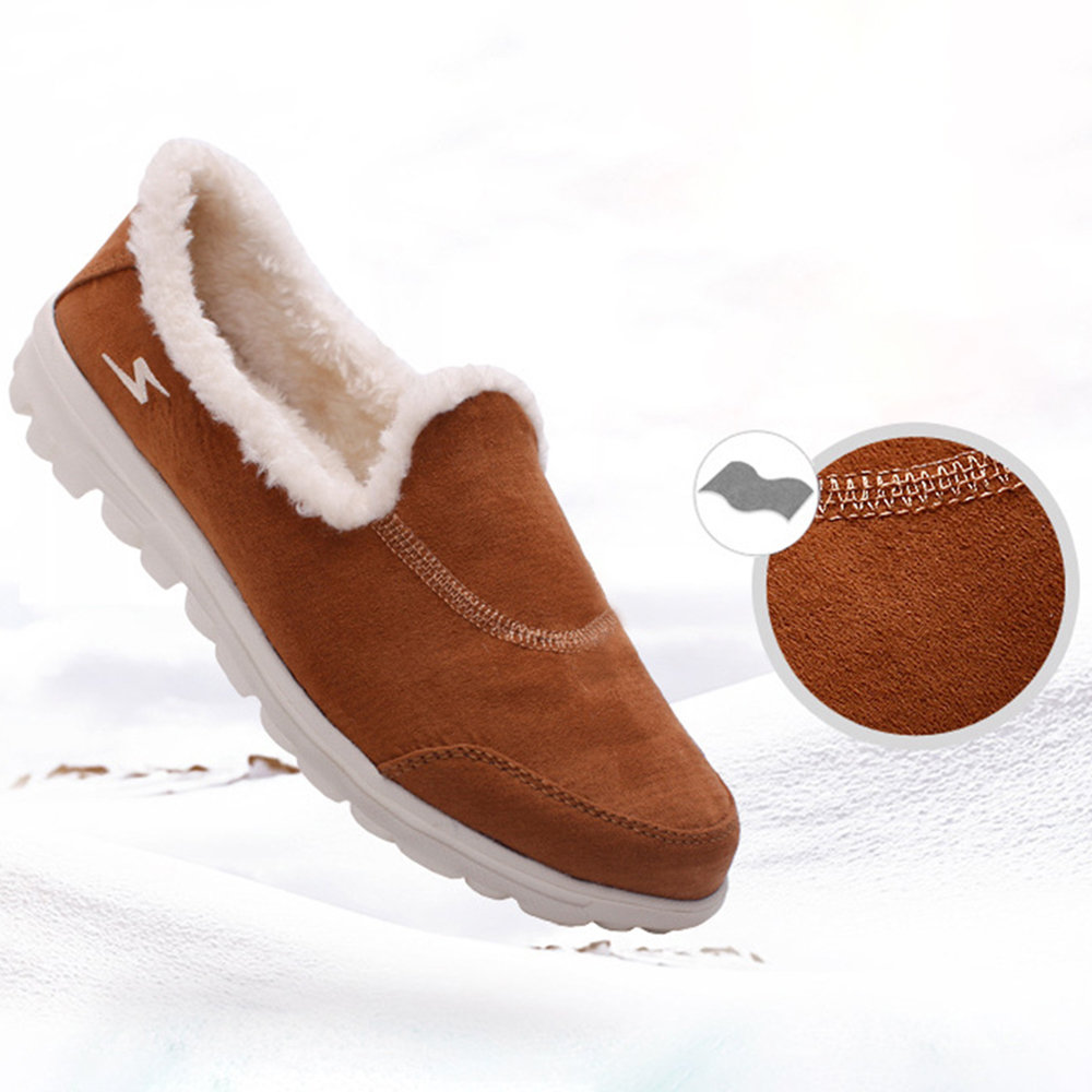 4aa70f5730f Hot-sale Women Warm Lining Bean Shoes Lightweight Suede Leather Non Slip  Loafers - NewChic
