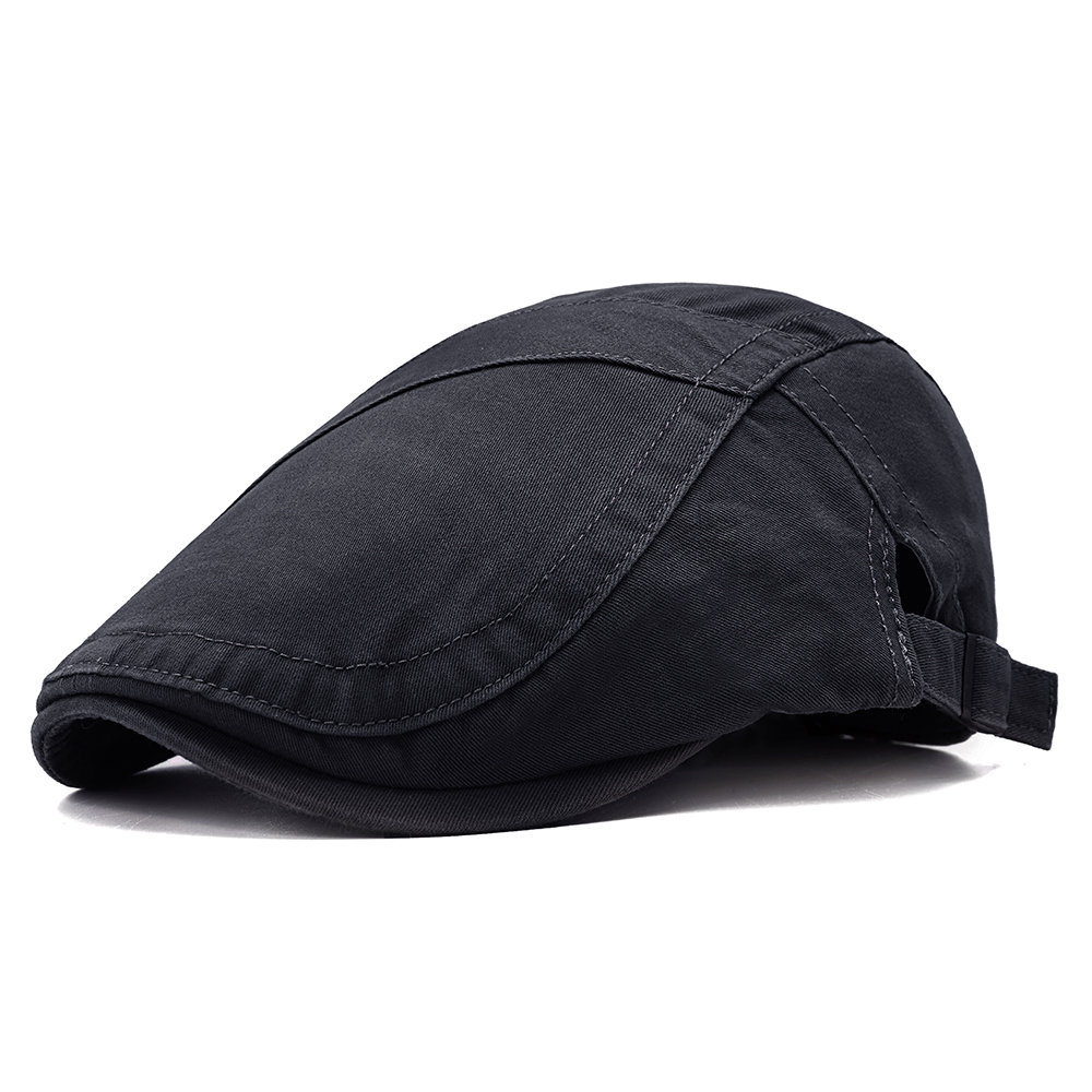 f1e61e3e3c4 Mens Vintage Adjustable Solid Color Cotton Washed Beret Cap Casual Sunshade  Newsboy Forward Hats Cheap - NewChic