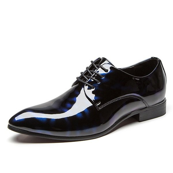 23160a99453a Larger Size Men Patent Leather Pointed Toe Floral Pattern Formal Dress Shoes  Online - NewChic