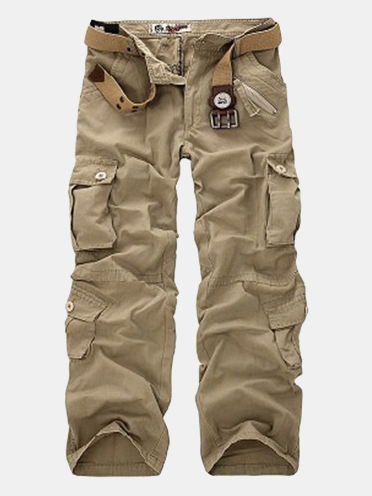 8227b9ae00f29 Men s Plus Size Outdoor Tactical Pants Multi Pockets Casual Cotton Cargo  Pants Online-NewChic
