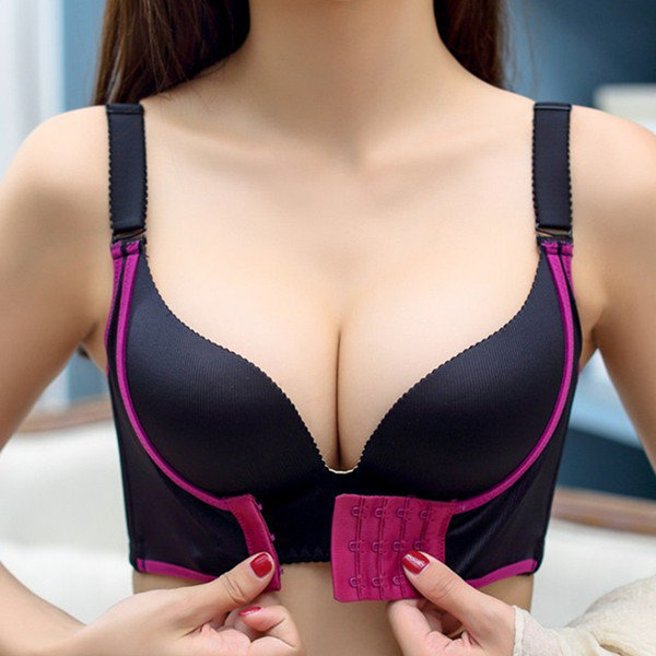 Sexy Wireless Seamless Front Closure Push Up Gather Adjustable Bras -  NewChic
