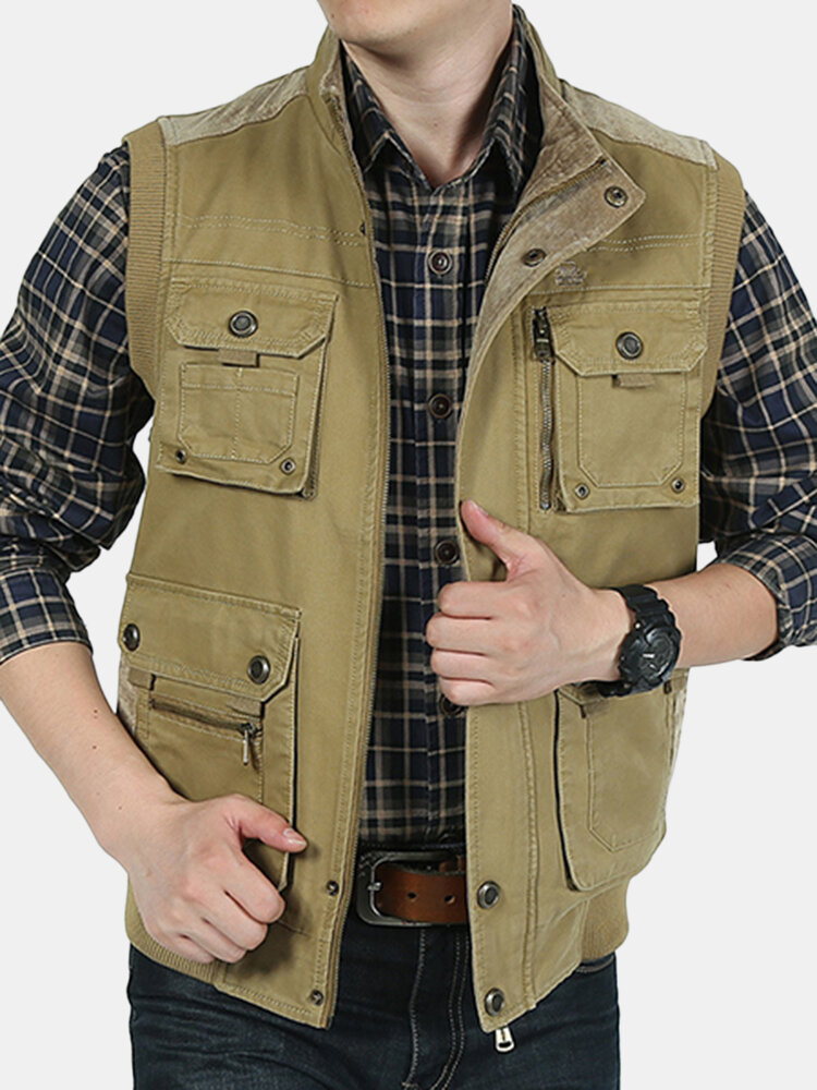 25702568b3a Mens Plus Size XS-5XL Casual Outdoor Cotton Multi Functions Loose Vest  Cheap - NewChic