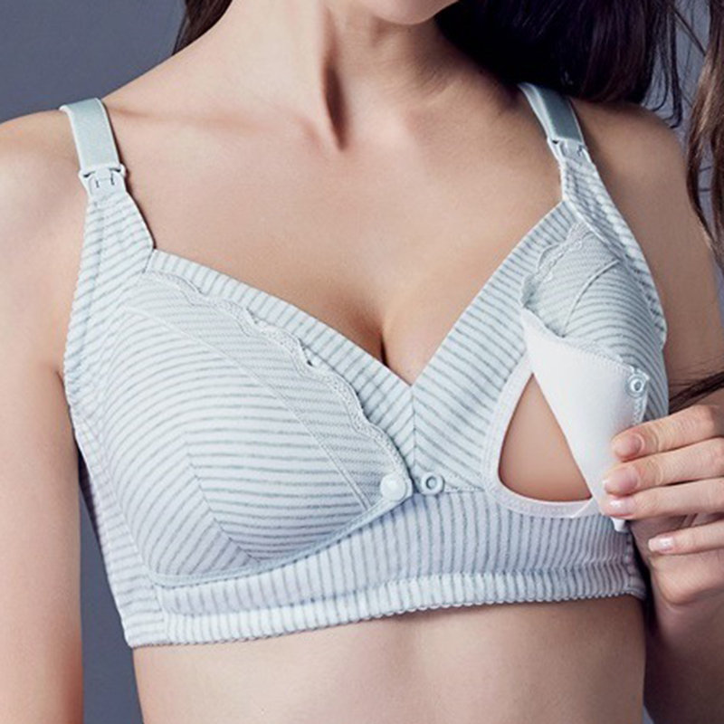 e53615846 Front Button Wireless Maternity Breathable Comfy Nursing Bras On Sale -  NewChic