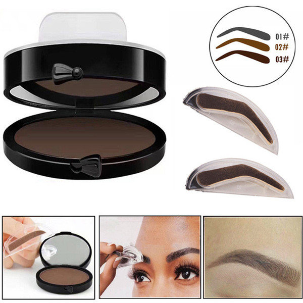 Professional Eyebrow Stamp Power Black Brown Brows Mineral Palette