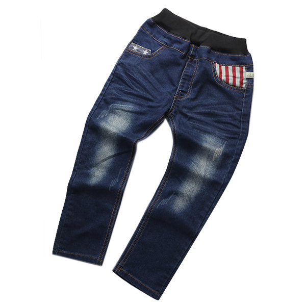 9bcd8ccf7 Kids Boy Elastic Waist Straight Jeans Trousers Toddler Boys Fashion ...