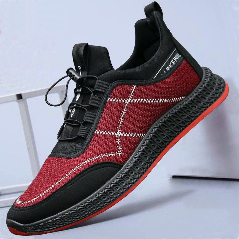 01e88d127766 Fashion Men Mesh Breathable Elastic Lace Up Casual Sport Running Shoes -  NewChic
