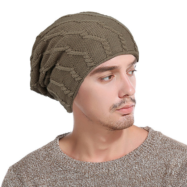 Mens Solid Color Stripe Warm Thick Wool Baggy Slouchy Beanie Skull Hats Ski  Cap 6 Color Hats Cheap - NewChic 66be2f0f7a6
