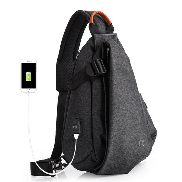 08bc8d6236 TANGCOOL USB Charging Port Chest Bags Casual Anti Theft Crossbody Bags is  worth buying - NewChic