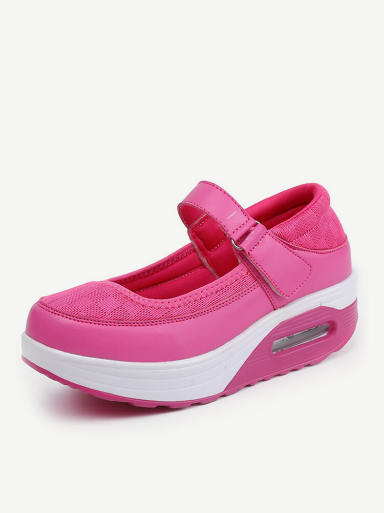 69b80a5d26a9 Comfortable Breathable Rocker Sole Hook Loop Platform Shake Sport Shoes -  NewChic