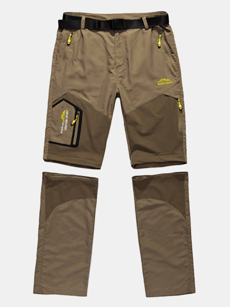 Mens Big Size Spring Summer Outdoor Pants Detachable Water