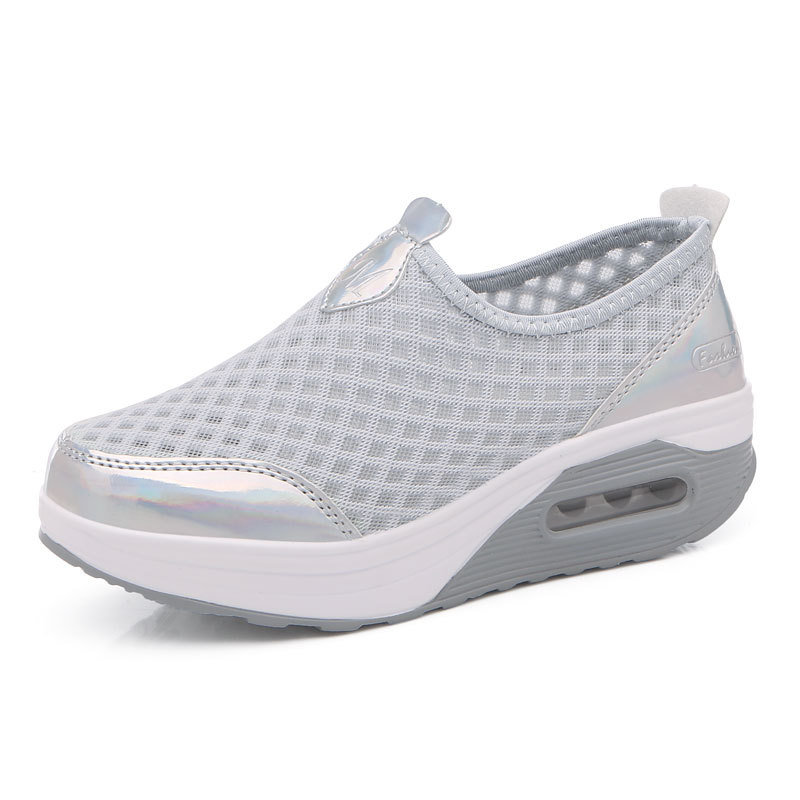 35e7aaf2a80d Comfortable Large Size Breathable Mesh Platform Rocker Sole Shake Casual  Shoes - NewChic