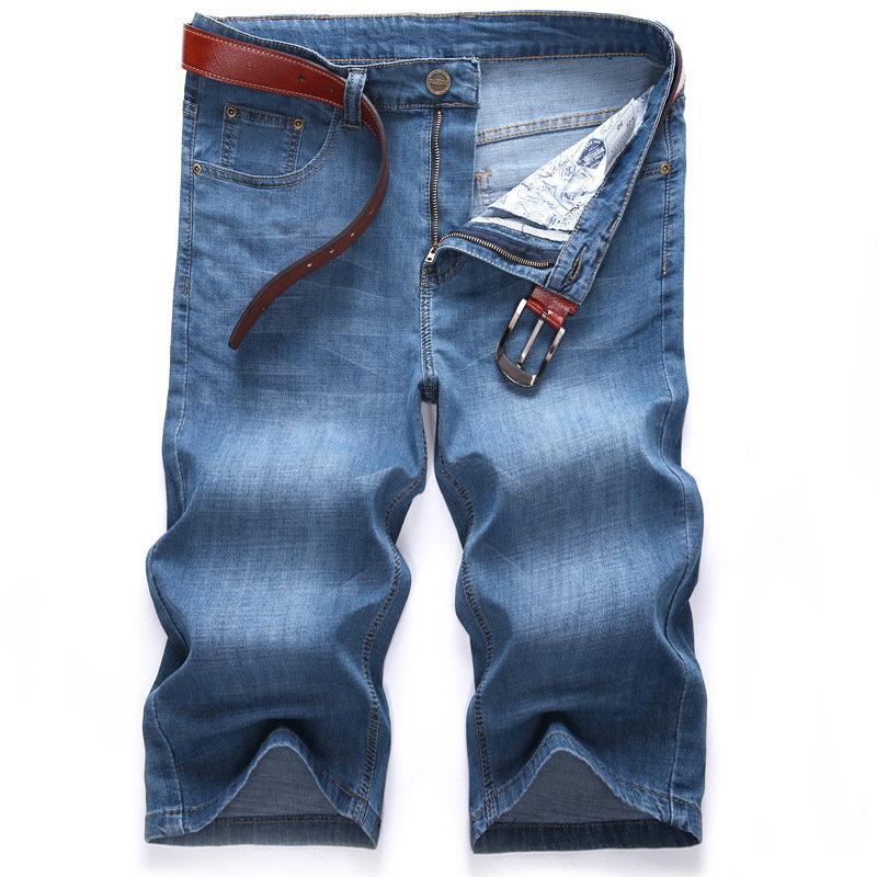 hombre grande vaqueros de cortos de talla elásticos Pantalones verano para  wP7zx4qF eed9bab5348c3