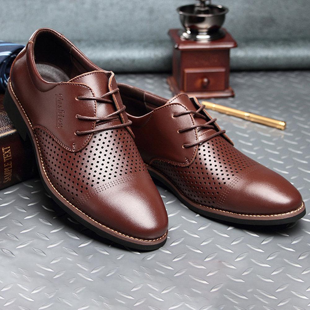 cc0aeb0dec70 De Hombres Zapatos Hacia Fromal Los Newchic Vestir Ahueca Fuera b6gIyvfY7