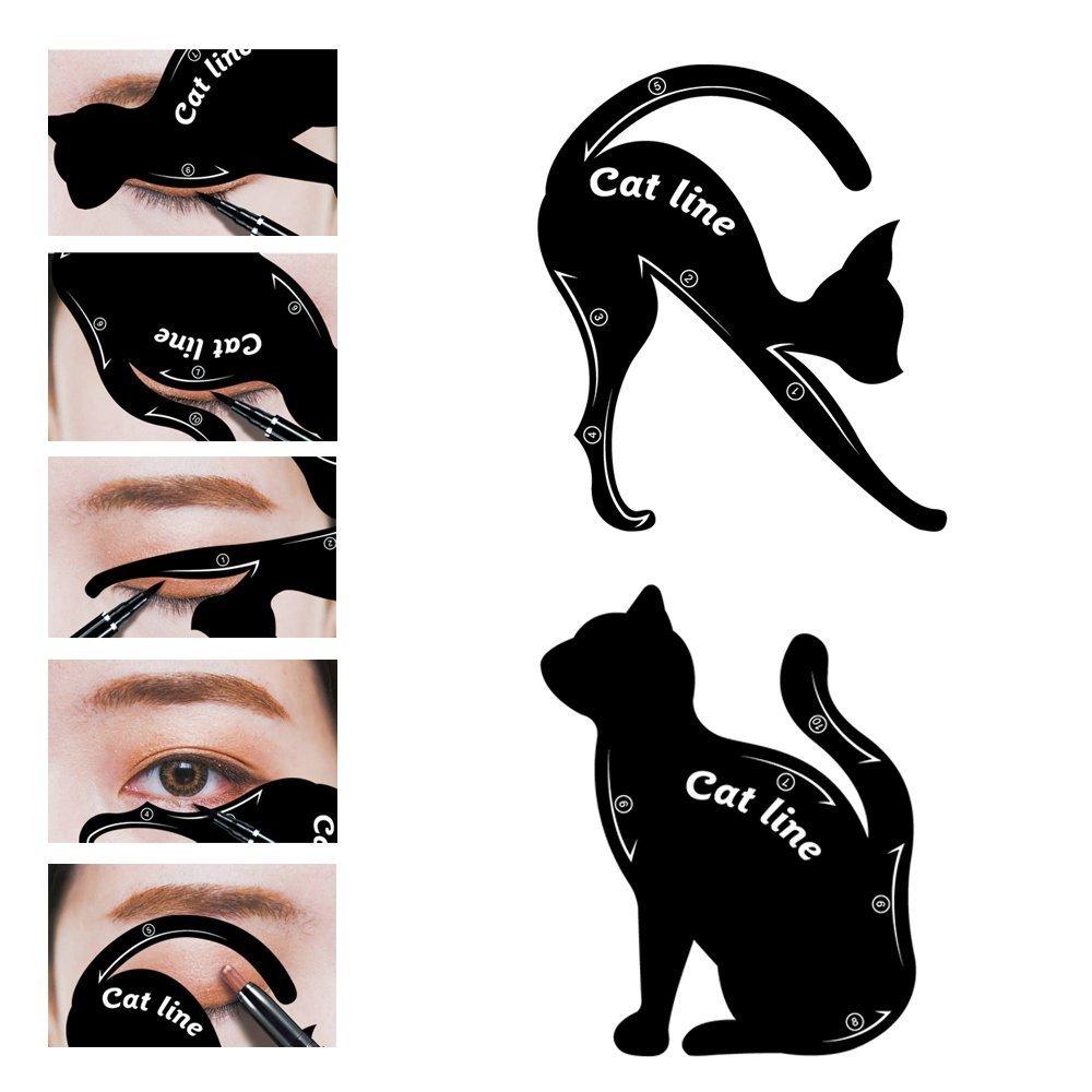Cat Eye Eyeliner Stencil Makeup Eyes Liner Stencil Models Eyeshadow