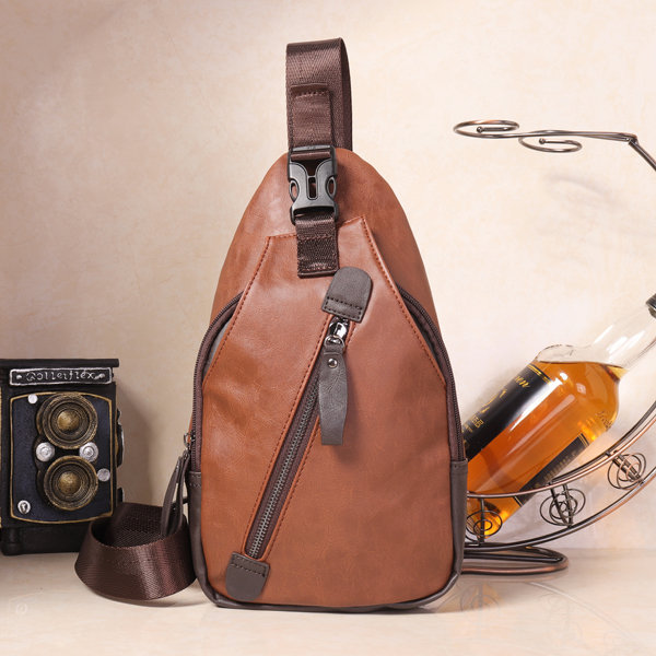 Men Retro PU Leather Crossbody Bag Capacity Leisure Shoulder Chest Bag is  worth buying - NewChic 8ca05d24f9d81