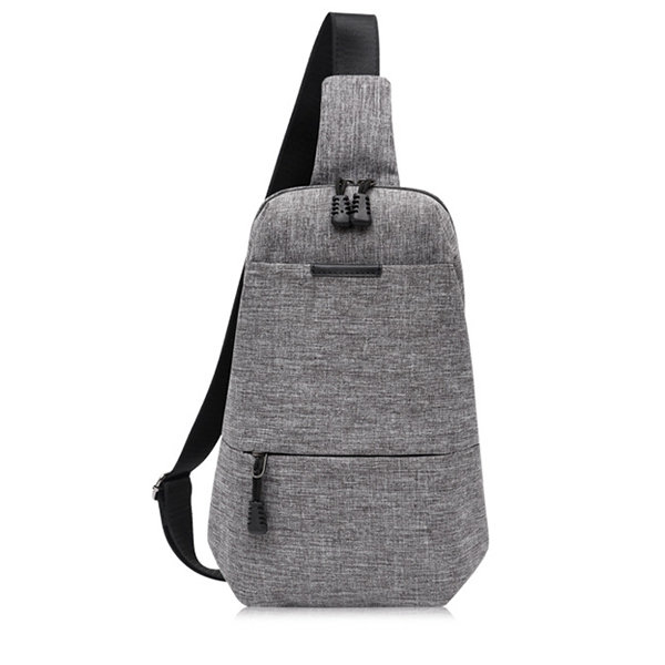 Casual Canvas Chest Bag Solid Business Sling Bag Shoulder Bag Crossbody Bag  For Men is worth buying - NewChic 7caf7794ac27