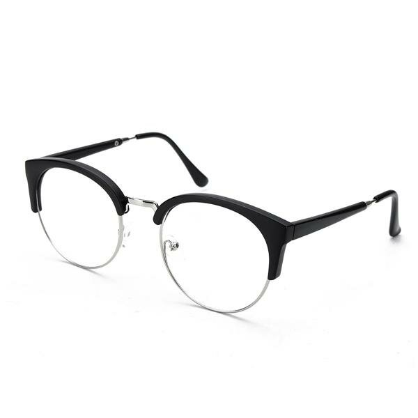 15146190c0 Men Women Retro Nerd Glasses Clear Lens Eyewear Retro Round Metal Frame Glasses  Cool - NewChic
