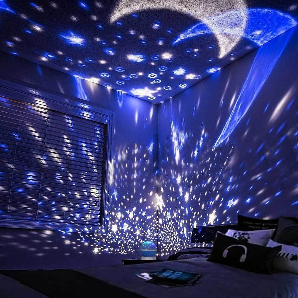 Decbest Rotating Spin Night Light Projector Cosmos Sky Star Moon Usb Lamp Home Decor Newchic