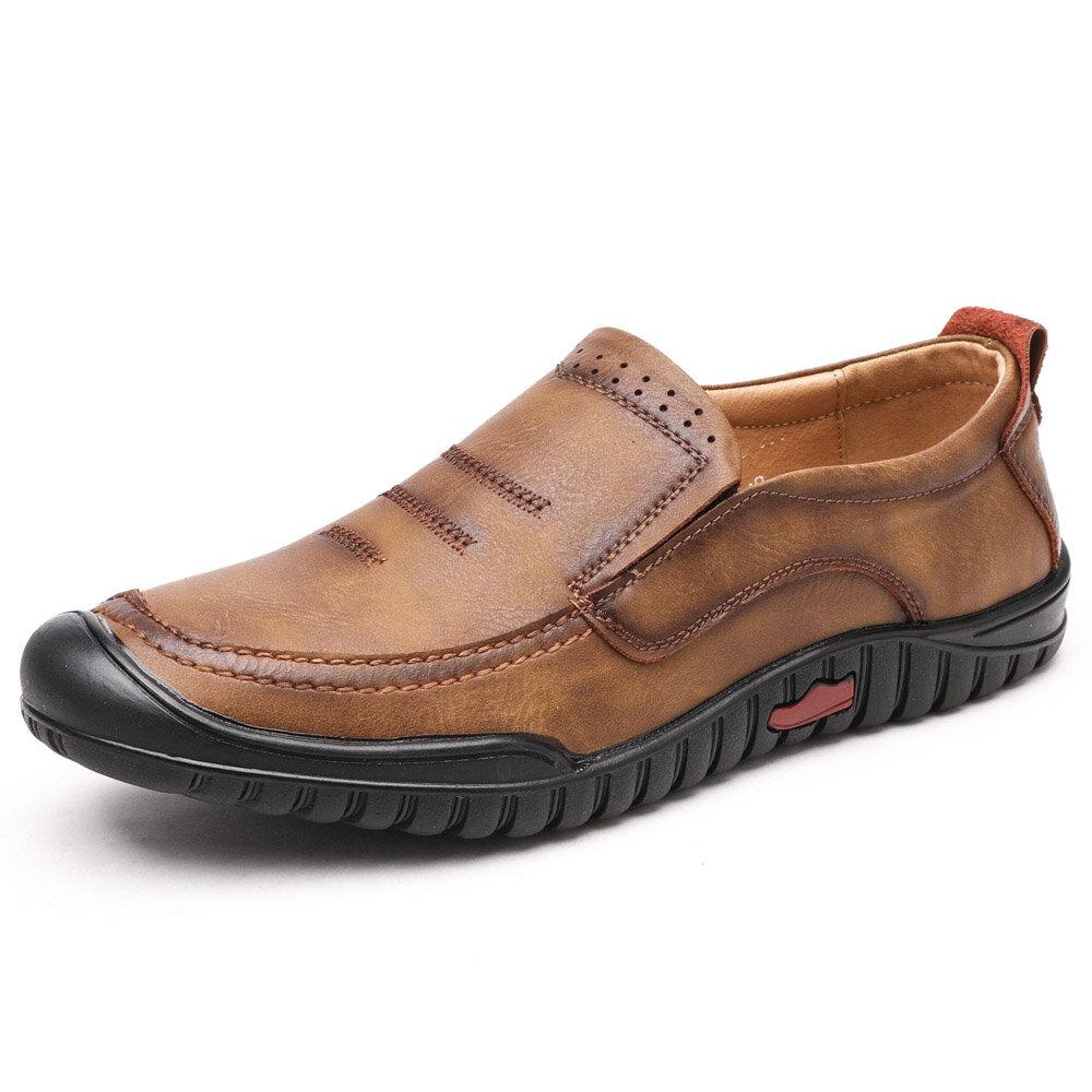 92ac8e78e03 Slip suave de cuero redondo de microfibra para hombre en calzado informal