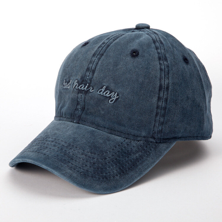 Women Mens Washed Bad Hair Day Embroidery Letters Baseball Hat Casual Retro  Visor Cool Hat Cheap - NewChic db663978d