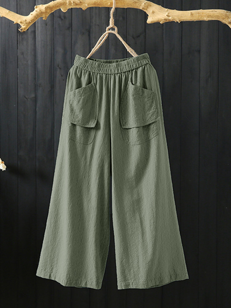 Solid Color Loose Pants