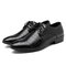 Men Pointed Toe Lace Up Dress Shoes
