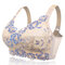 Plus Size Wireless Embroidery Unlined Full Cup Bras