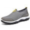 Men Mesh Breathable Slip On Outdoor Casual Hiking Sneakers