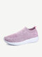 Big Size Women Trainers Casual Walking Comfy Mesh Slip On Shoes
