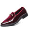 Large Size Men Leather Splicing Slip On Formal Dress Shoes