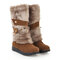 Large Size Furry Stitching Mid Calf Slip On Warm Knee Boots