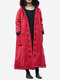 Women Thicken Frog Button Long Sleeve Hooded Cotton Coats