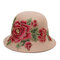 Women Wild Embroidery Peony Cotton Hat Casual Dating Hat Outdoor Windproof  Sunshade Hat