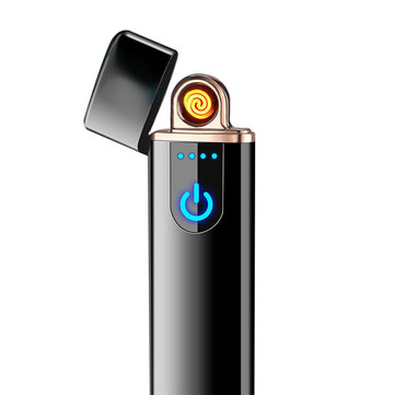 KCASA KC-760 Mini Induction Ultra-thin Usb Charge Electric Lighter Double-sided Ignition Port  Touch Sensing Windproof Electric Heating Wire